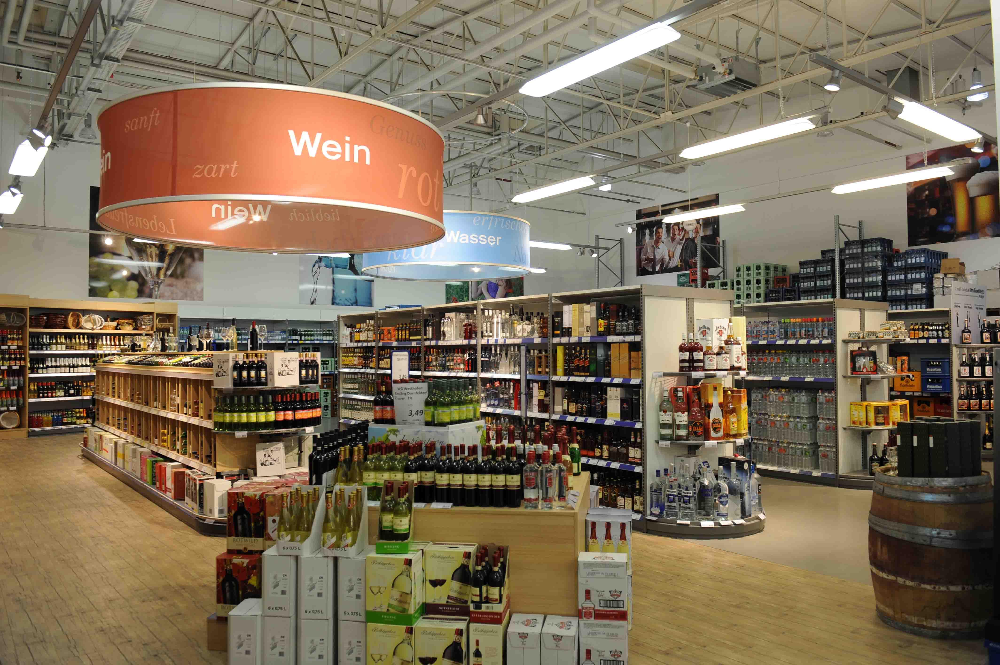Zisch Getränke Großmarkt Innen