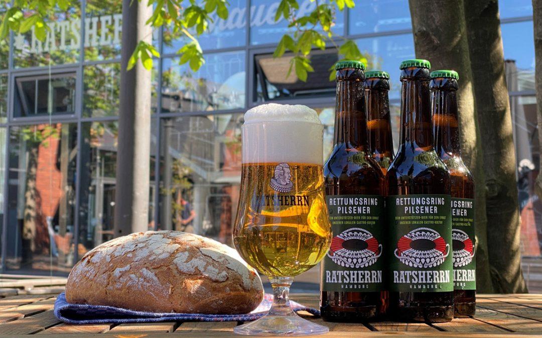 Ein Rettungsring-Pilsener von der Ratsherrn Brauerei