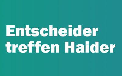 """""""Entscheider treffen Haider"""" mit Oliver Nordmann"""
